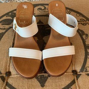 Italian Shoemaker white sandal